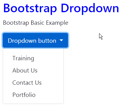 dropdown bootstrap 4