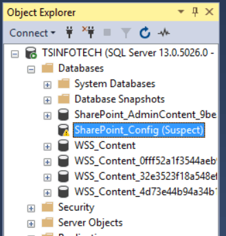 SharePoint_Config (Suspect) issue in SharePoint 2019/2016