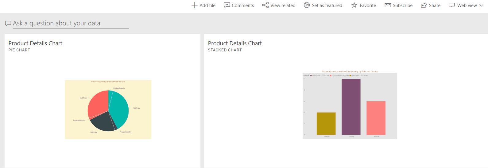 add reports to power bi dashboard