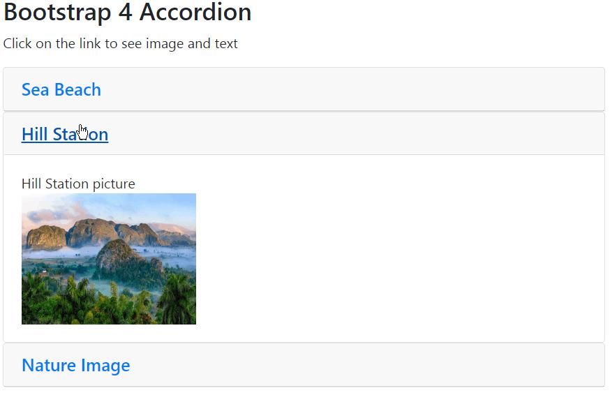 bootstrap 4 accordion