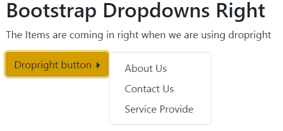 bootstrap 4 dropdown left