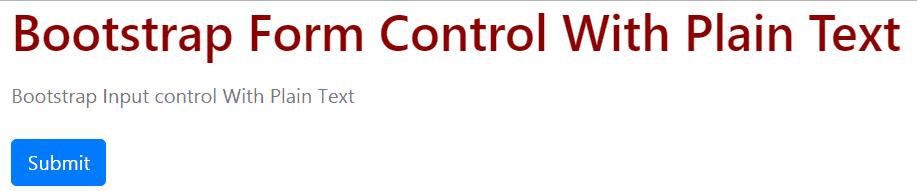 bootstrap 4 form-control-plaintext