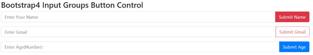 bootstrap 4 input group button