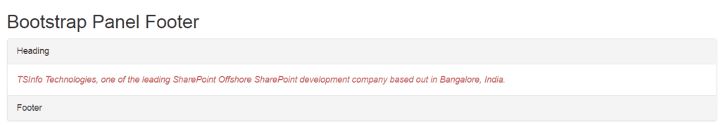 bootstrap 4 panel footer