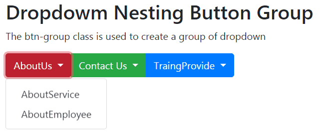 bootstrap group dropdown