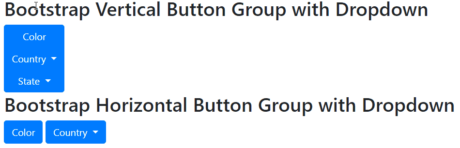 bootstrap vertical button group dropdown