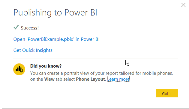 create power bi report from excel