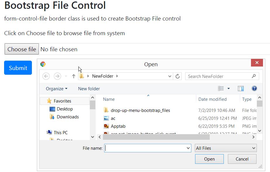 file control bootstrap 4