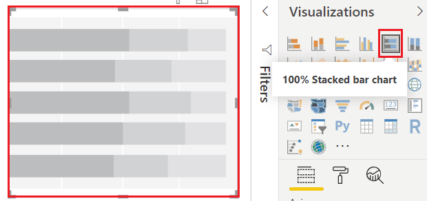 100 stacked bar chart in power bi