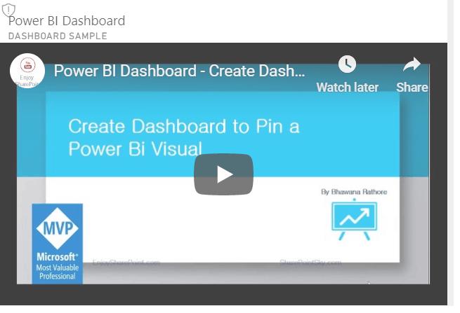 insert video to power bi dashboard