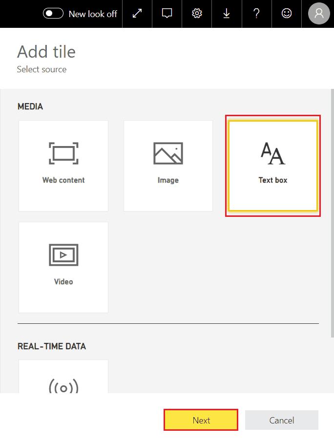add text box in power bi desktop