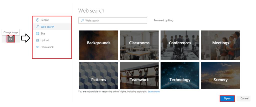 create modern sharepoint online site design