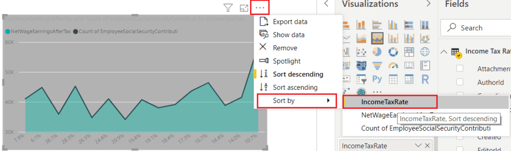 create stacked area chart in power bi