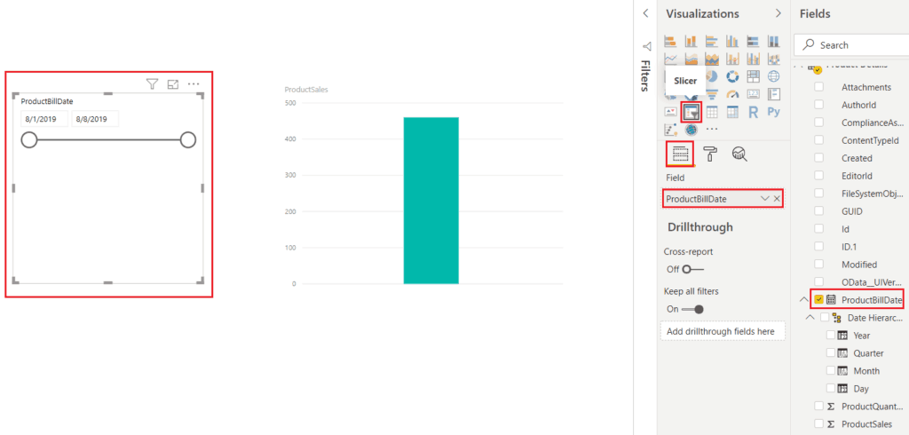 date filter using power bi