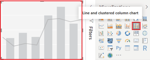 power bi line and clustered column chart
