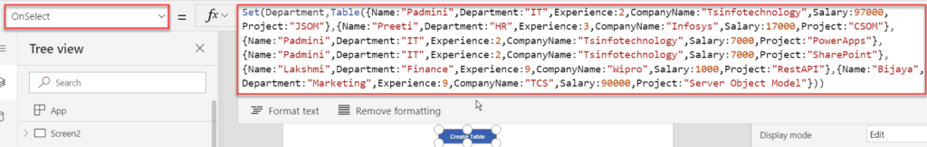 Distinct() function in PowerApps