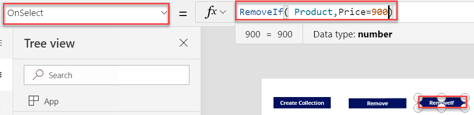 Powerapps functions RemoveIf()