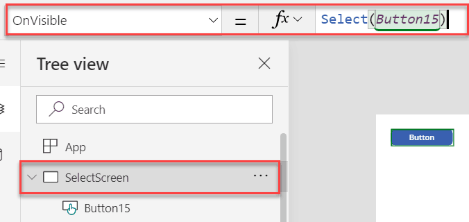 PowerApps Select() Function example
