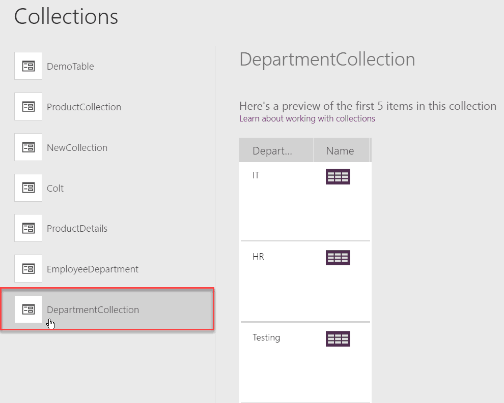 powerapps groupby collection