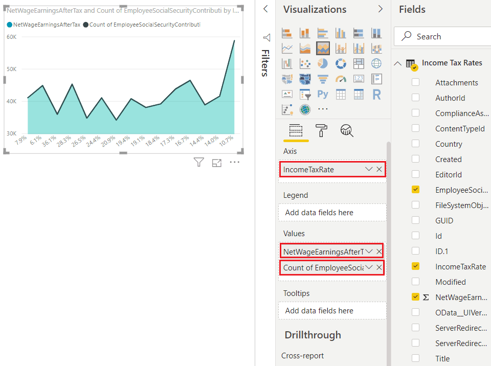 stacked area chart in power bi