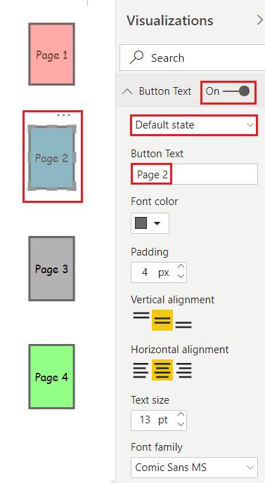Blank buttons in Power BI