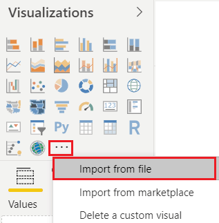 Import a Custom Visual from a File in Power BI