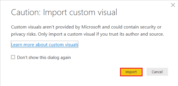 Power BI Import a Custom Visual from a File