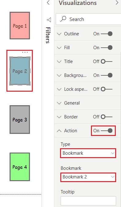 Power BI blank button