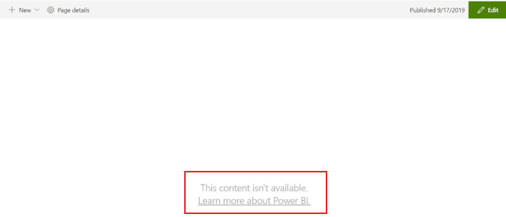This content is not available in Power BI