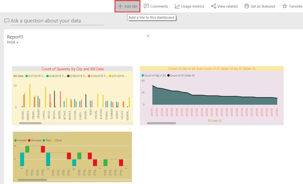 add web content to power bi dashboard