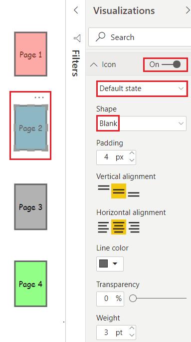 create Power BI blank button