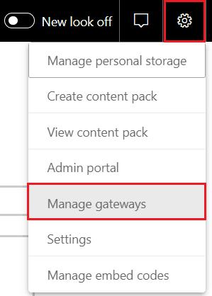 power bi desktop connect to gateway