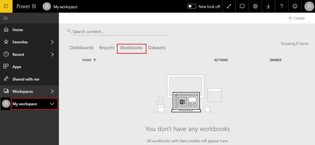 upload power bi workbooks