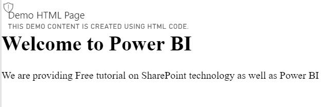 web content in power bi dashboard