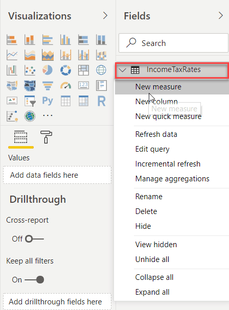 create power bi new measure