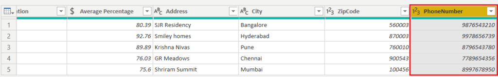 how to change data type of a new column in power bi