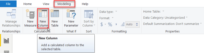 create a calculated column in power bi