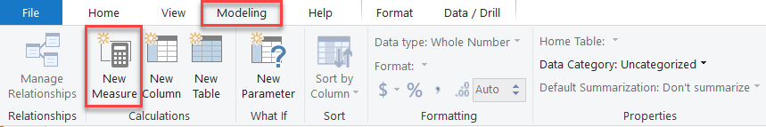 Power BI Calculated Measures