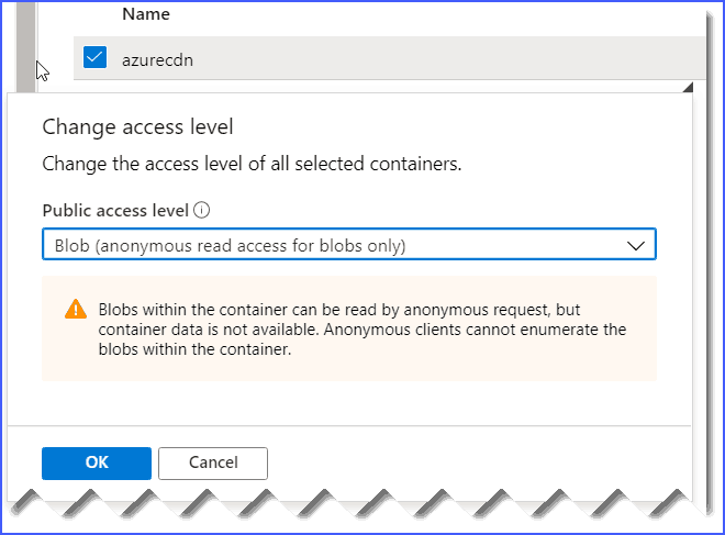 the specified resource does not exist azure blob storage