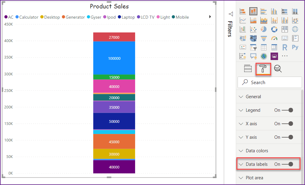 data labels in power bi desktop