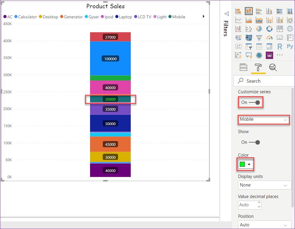 power bi show data labels as percentage