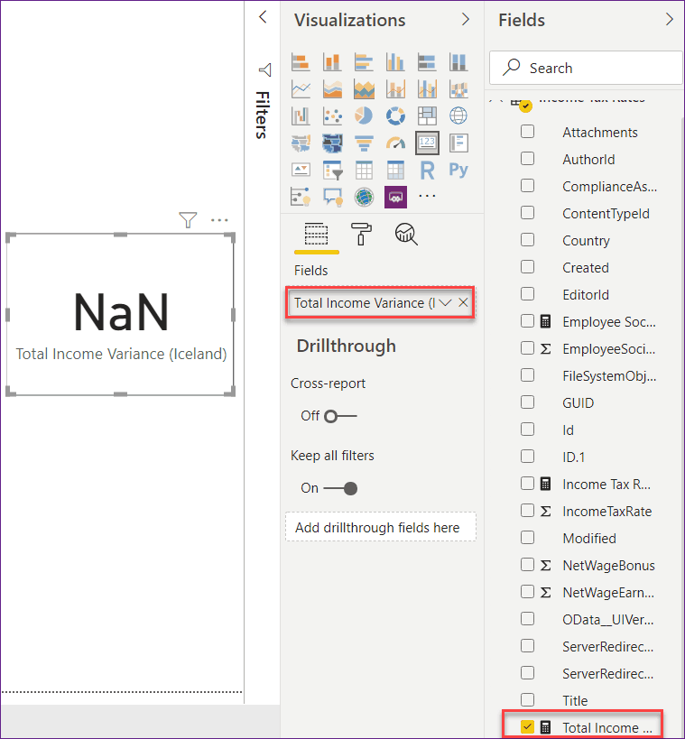 nan in power bi