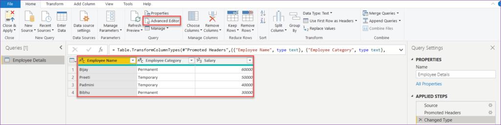 power bi change data source for visualization