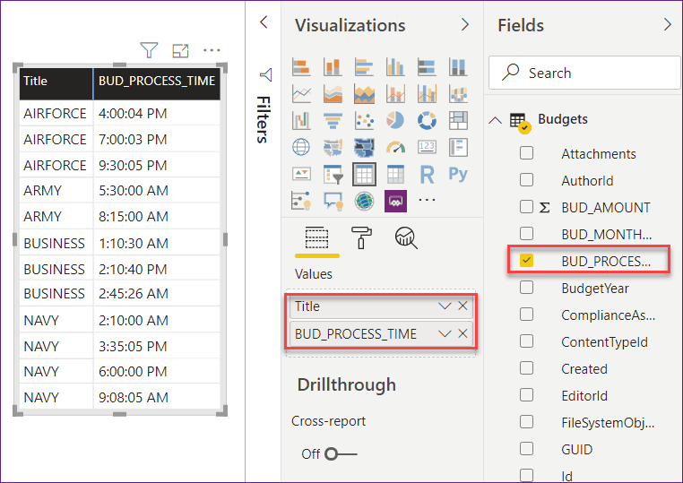 convert duration to minutes in Power BI