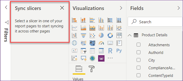 how to sync slicer in power bi