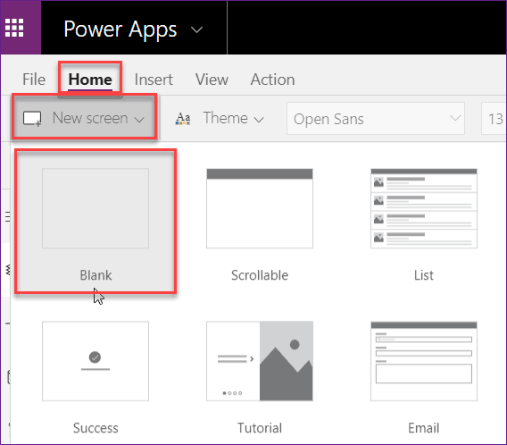 Create Data Table from Excel Data using PowerApps