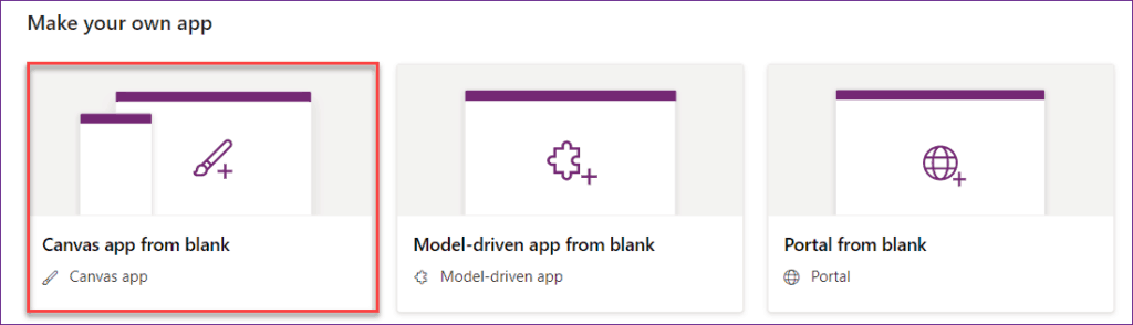 create a canvas app from excel data using powerapps