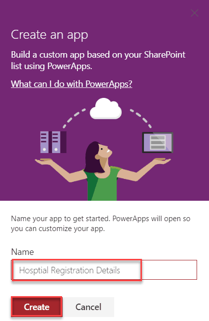 create a power apps for sharepoint online list