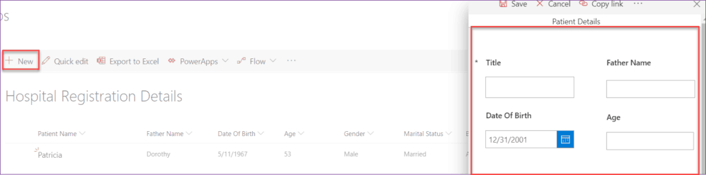 create a powerapps for sharepoint list