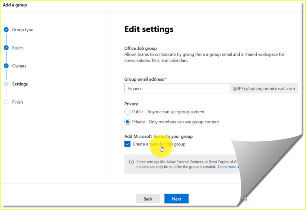 how to see office 365 groups in outlook